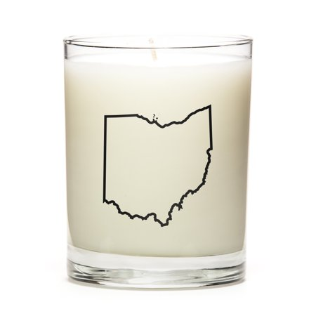 Custom Candles With The Map Outline Ohio Eucalyptus Walmart Com