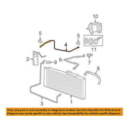 dodge chrysler oem 04-08 ram 1500 ac a/c air conditioner-liquid line  55055960ad - walmart com