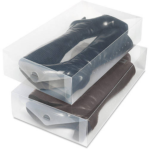 Whitmor Clear View Boot Boxes, Set of 2