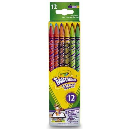 crayola 12 count twistable colored pencils