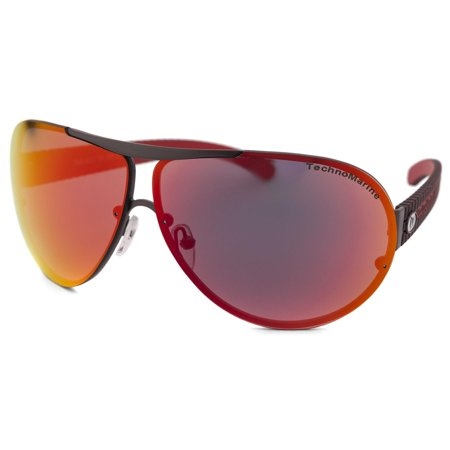 TechnoMarine Cruise Speedway Aviator TMEW007 Sunglasses - Made in (Armani Sunglasses Made In Italy)