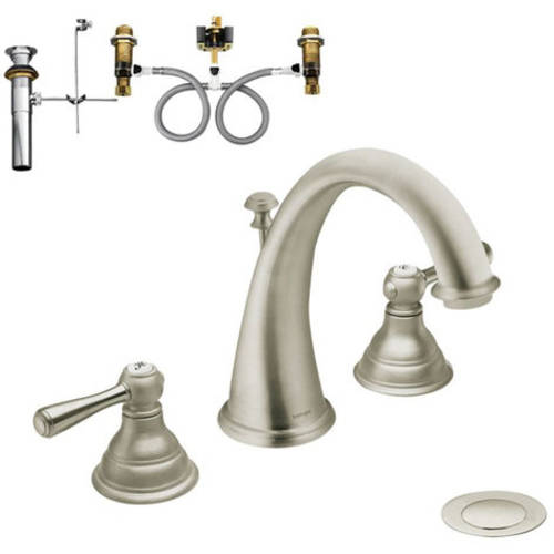 Moen Klki-d-t6125p Kingsley Two-Handle High-Arc Lavatory Faucet, Available in Various Colors