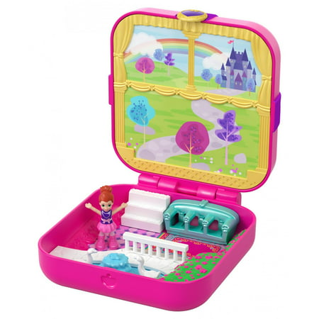 Polly Pocket Hidden Hideouts Lil' Princess Pad Compact with Micro Lila Doll