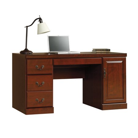 Sauder Heritage Hill Computer Credenza Desk Classic Cherry