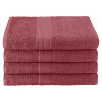 Superior Eco-Friendly 100% Ringspun Cotton 4Pc Bath Towel Set