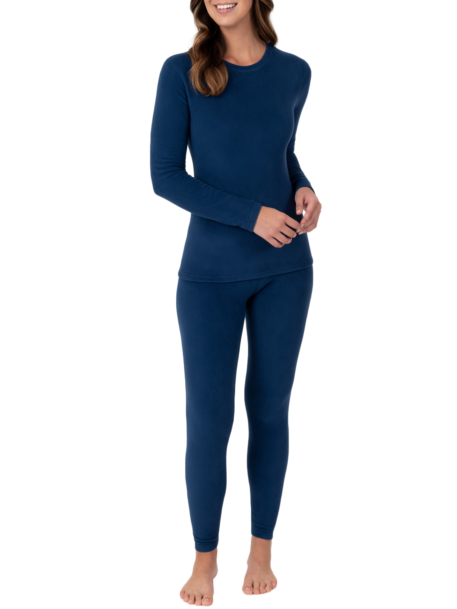 Fruit of the Loom Womens Regular Stretch Fleece Thermal Set