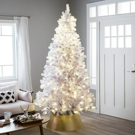 Belham Living 6.5ft Pre-Lit Artificial Christmas Tree with ...