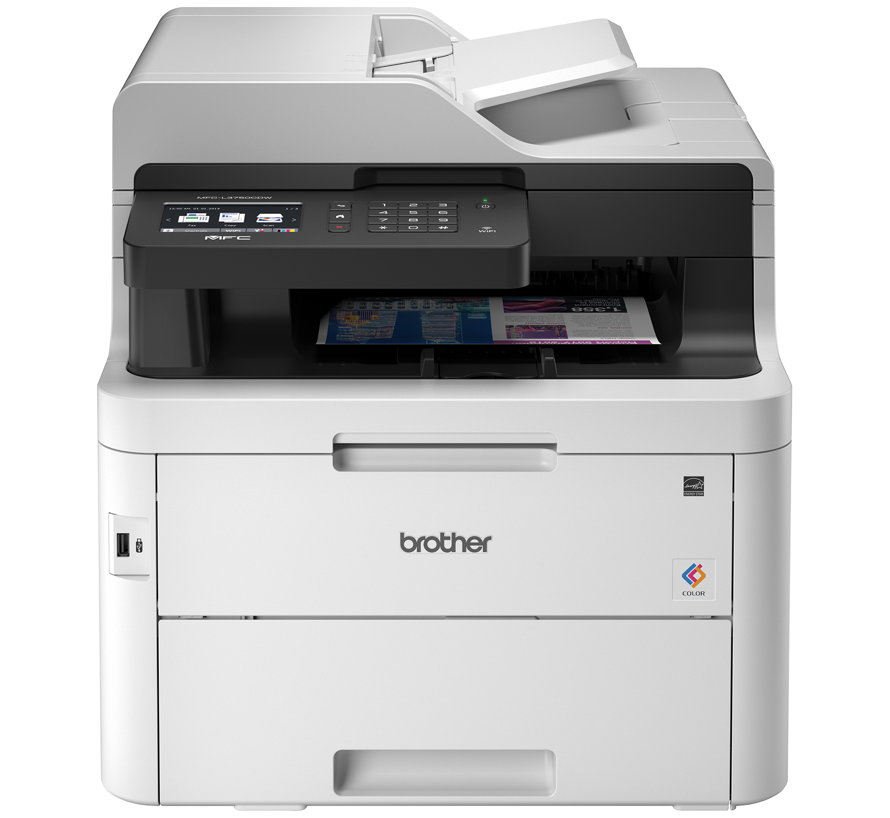 Brother MFC-L3750CDW Compact Digital Color All-in-One Printer Providing Laser Quality Results with 3.7� Color... by Brother