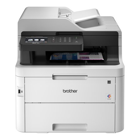 """- Brother MFC-L3750CDW Compact Digital Color All-in-One Printer Providing Laser Quality Results with 3.7"""" Color Touchscreen, Wireless and Duplex Printing"""