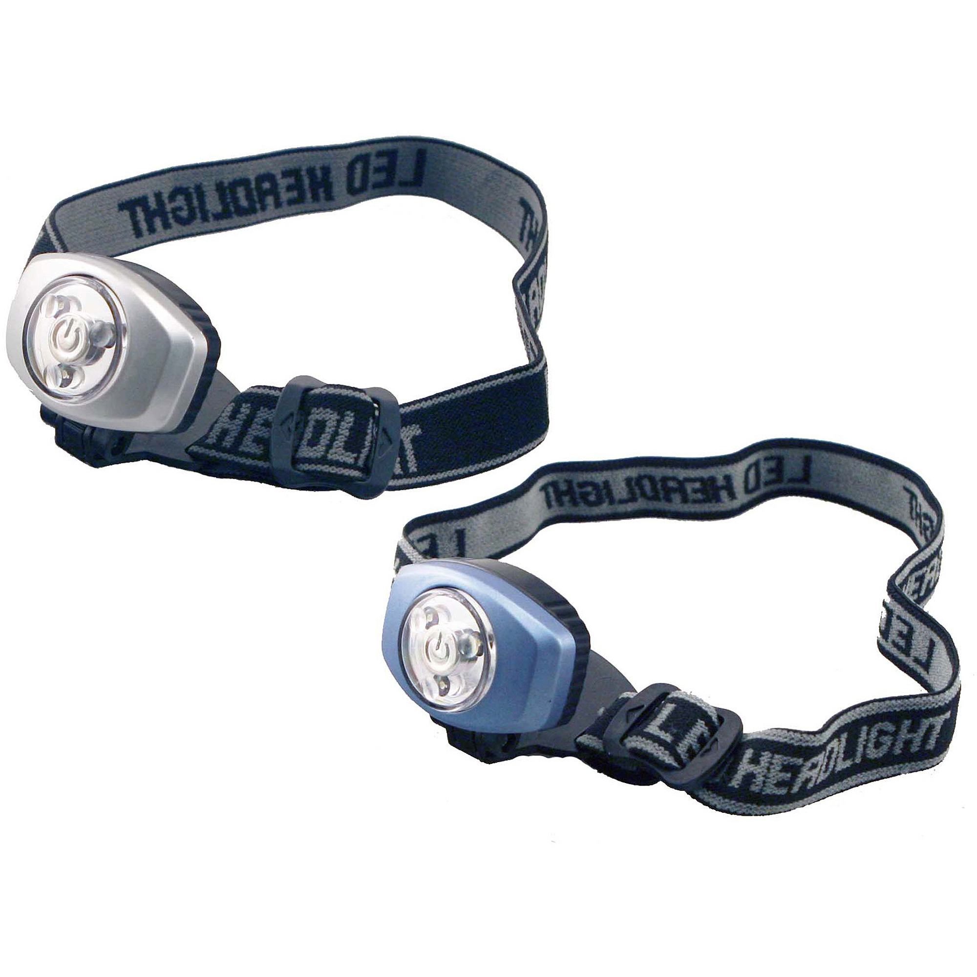 Sentry LTN-LEDH2 LED Headlamps, 2pk, Silver/Blue