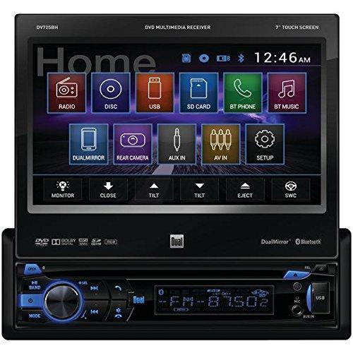 "Dual Dv725bh Car Dvd Player - 7"" Touchscreen Led-lcd - Single Din - 4 - Dvd+rw, Dvd-rw, Cd-rw - Mp4, Dvd Video - Mp3, Wma, Cd-da - Am, Fm - Secure Digital [sd], Secure Digital High Capacity (dv725bh)"