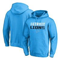 Detroit Lions NFL Pro Line by Fanatics Branded Iconic Collection Fade Out Pullover Hoodie - Blue