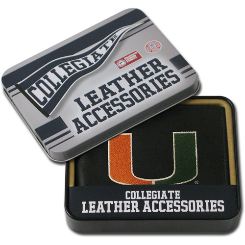 NCAA - Men's Miami Hurricanes Embroidered Billfold Wallet