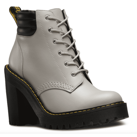c04a69c9cd2 Dr. Martens Women s Persephone 6-Eye Padded Collar Fashion Boots Grey  Leather 3 M UK 5 M US