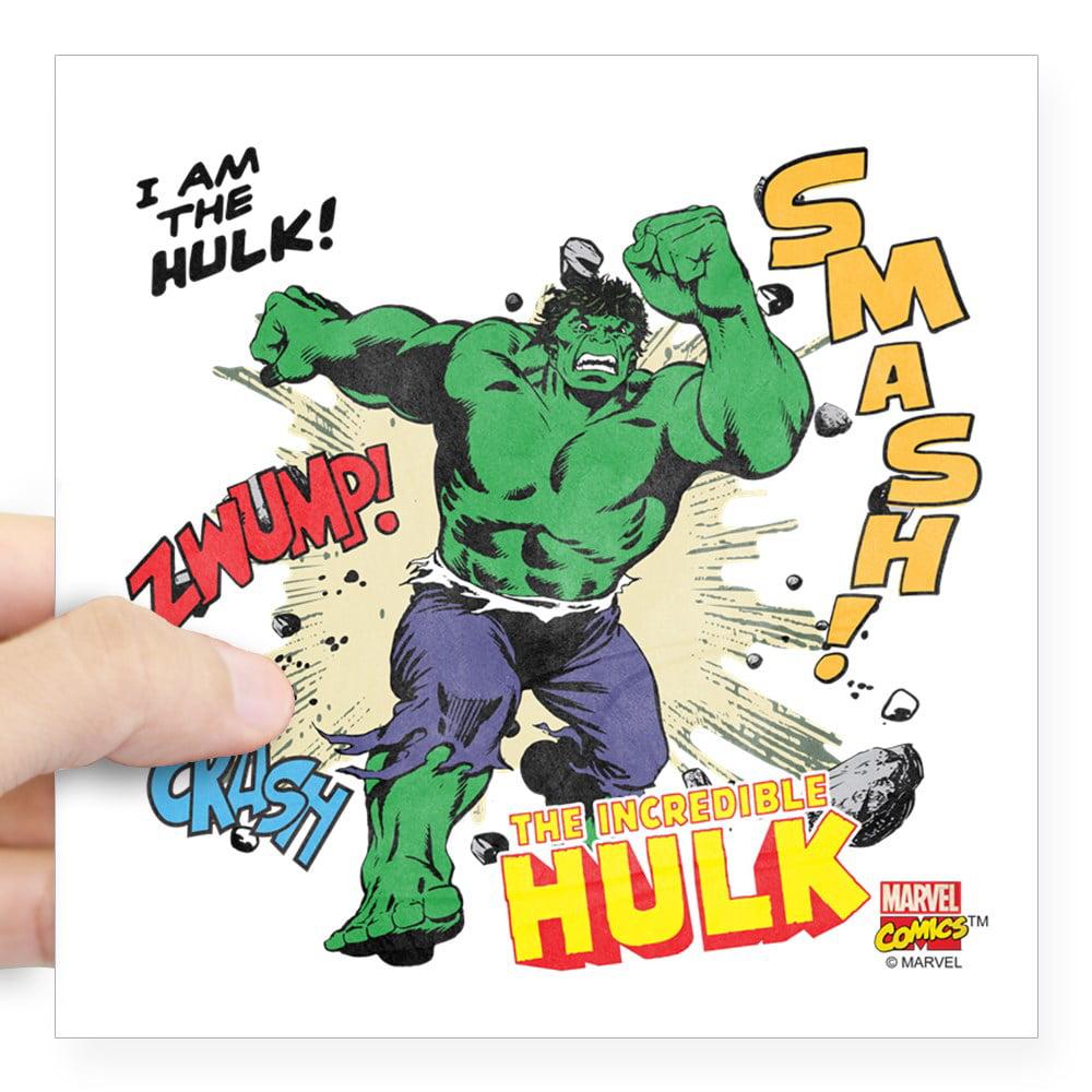 "CafePress - Hulk Smash Square Sticker 3"" X 3 - Square Sticker 3"" x 3"""