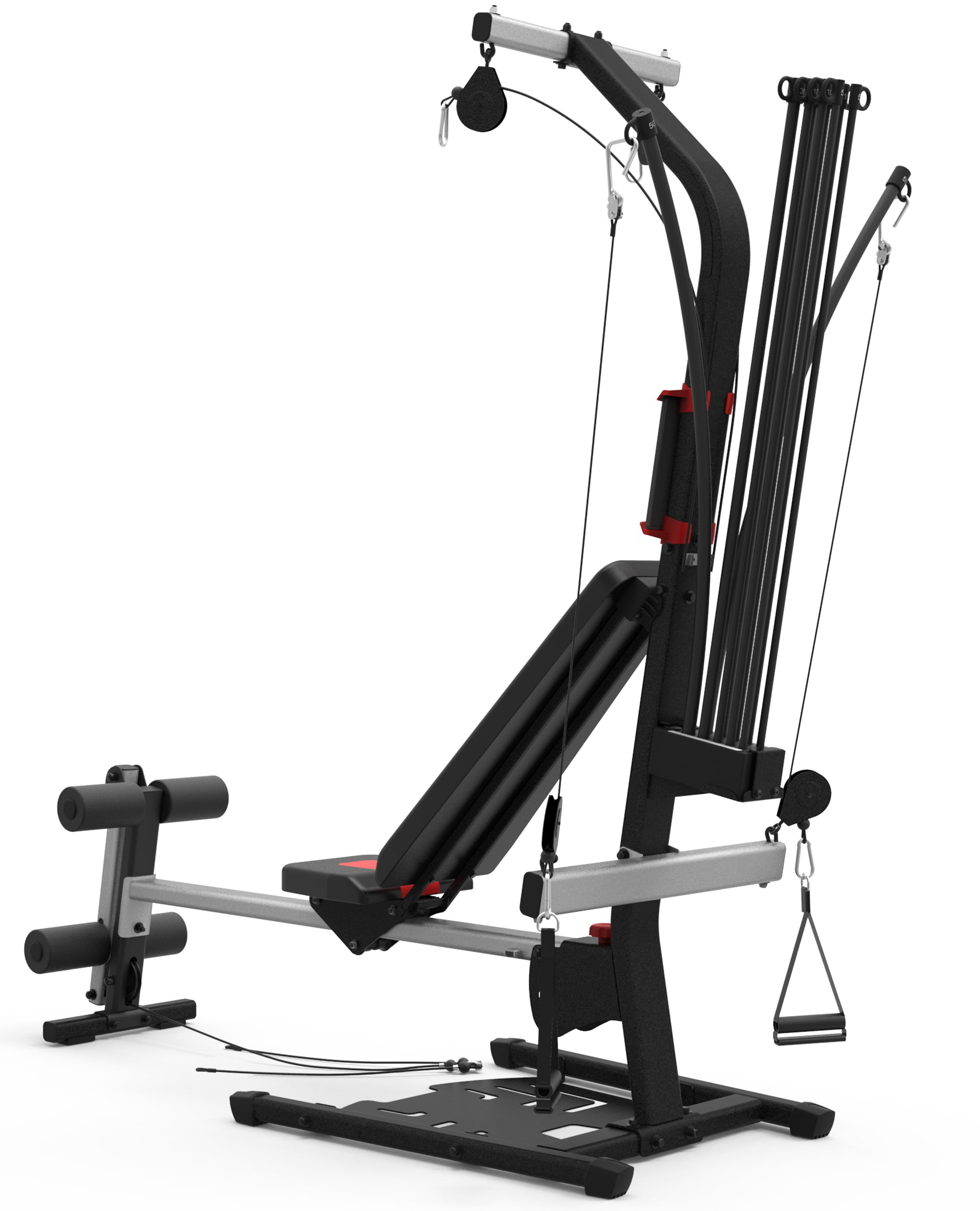 Bowflex pr home gym with exercises and lbs power rod