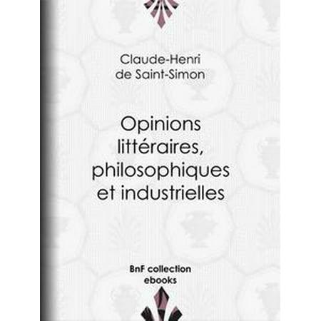 Opinions littéraires, philosophiques et industrielles - eBook