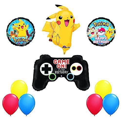 POKEMON GO Game Controller and Jumbo PIKACHU Birthday Party Balloons