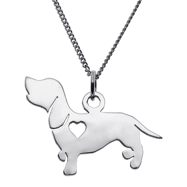MBM Company INC Sterling Silver Dachshund Dog Silhouette ...
