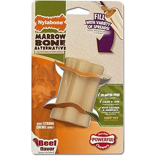 Nylabone DuraChew Marrow Bone Alternative Beef Flavored Dog Toy, Regular
