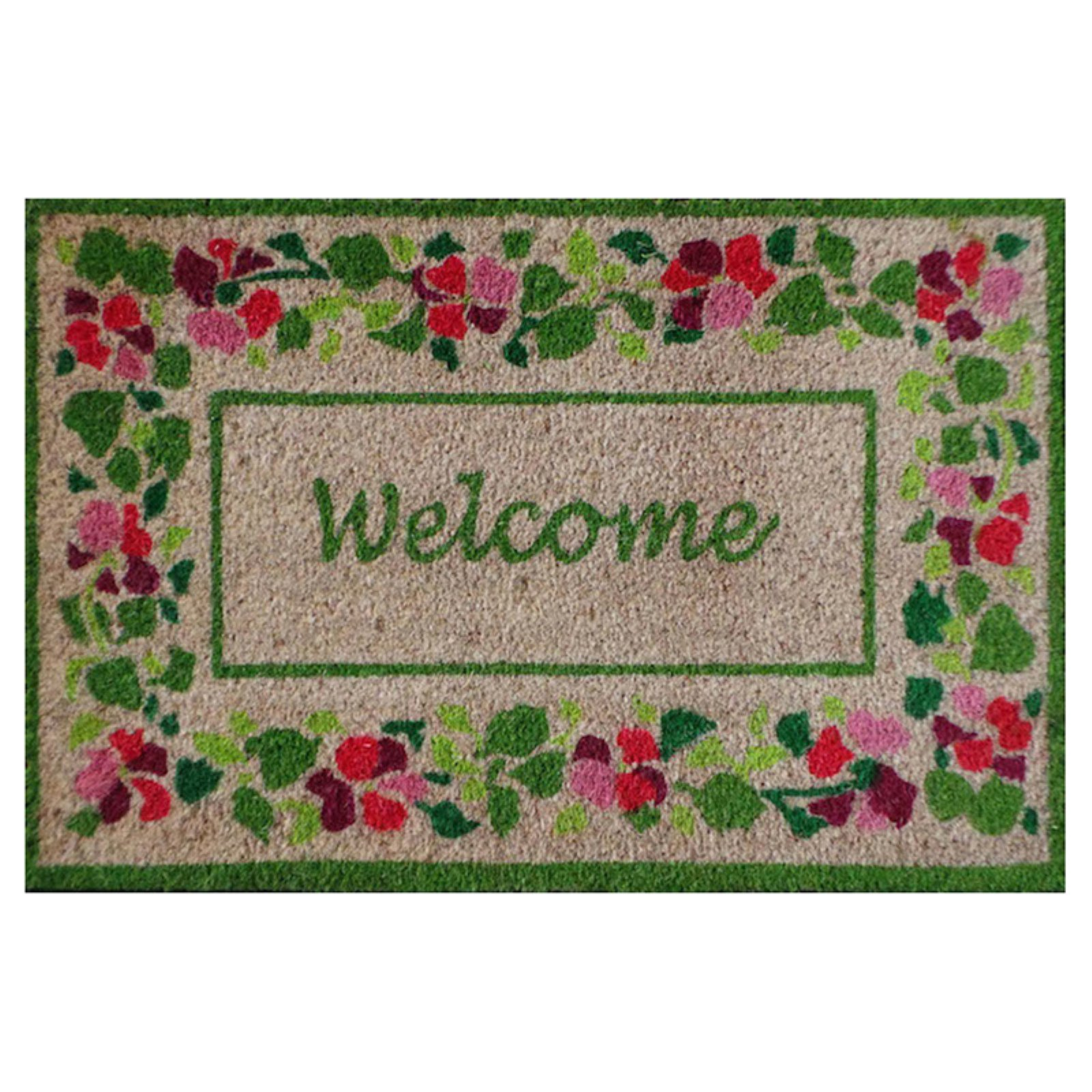 First Impression Welcome Summer Flower Tray Outdoor Door Mat