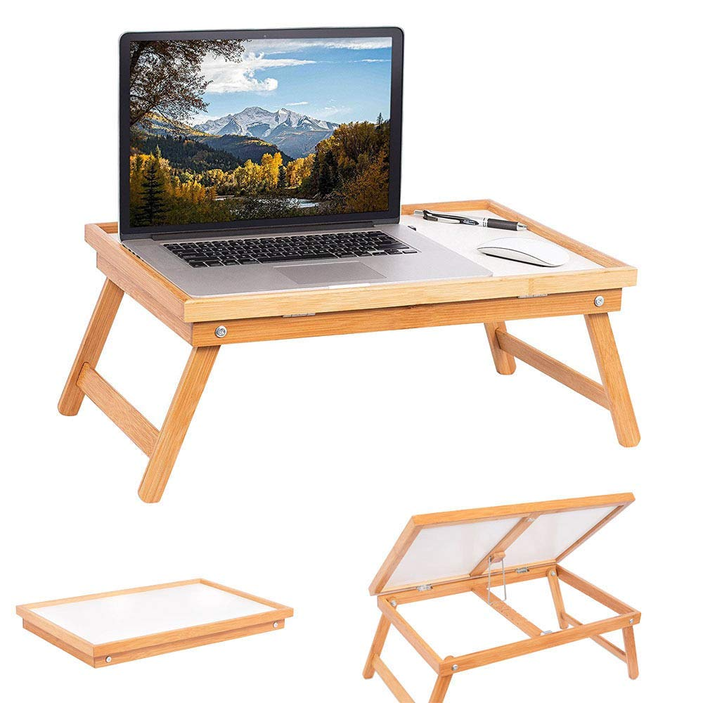UBesGoo Wood Foldable Laptop Desk and Bed Tray Table - Natural