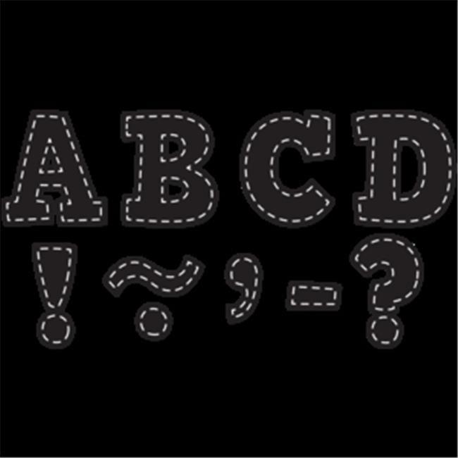 Teacher Created Resources TCR77309 Black Stitch Bold Block 3 Magnetic Letters - image 1 de 1