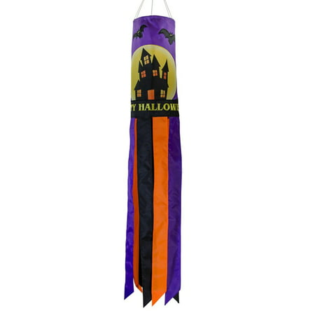 In the Breeze Fright Night 40-Inch Windsock - Hanging Halloween Decoration - Outdoor Holiday - Halloween Windsock