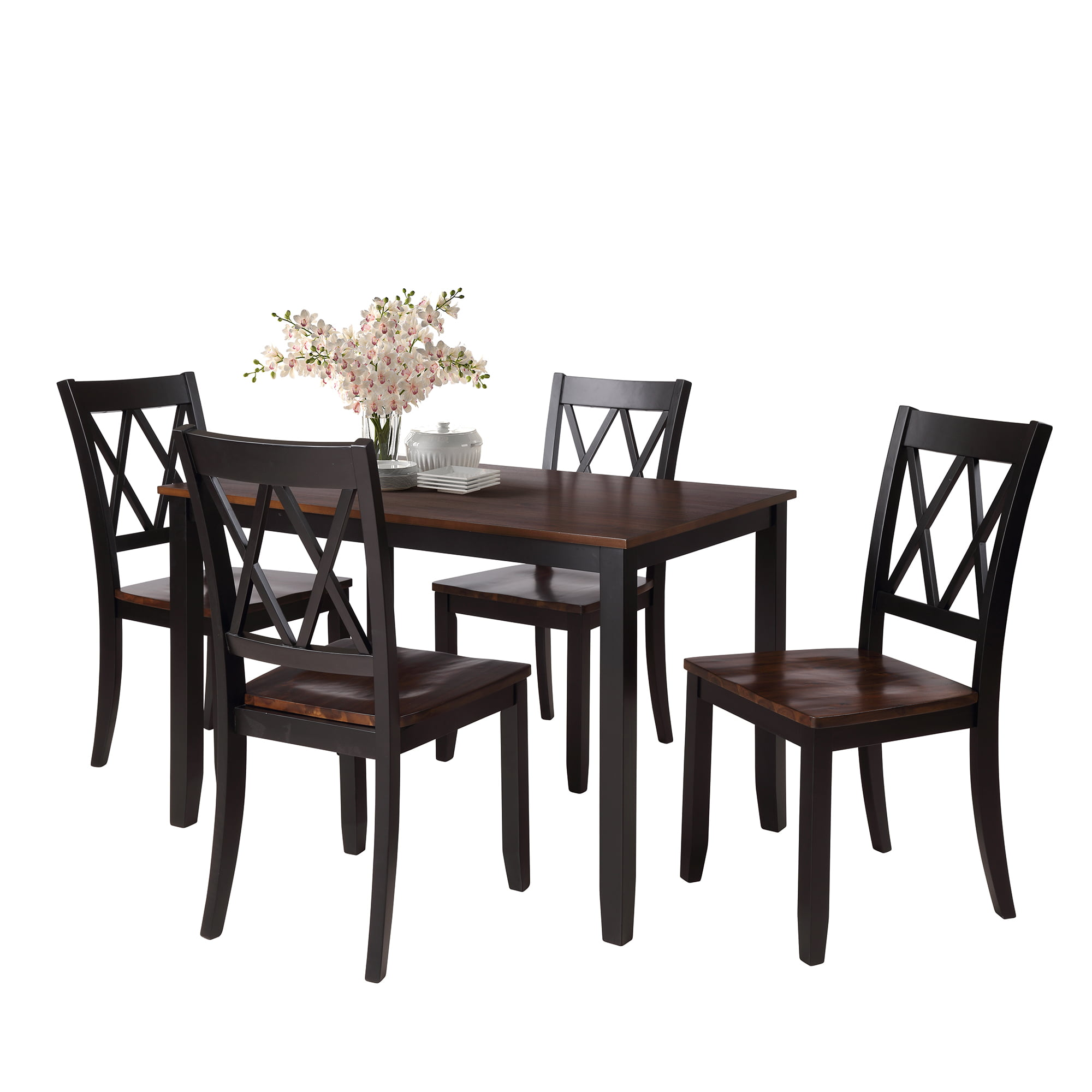 9 Piece Kitchen Table Set, Modern Dining Table Sets with Dining Chairs for  9, Heavy Duty Wooden Rectangular Dining Room Table Set with Black Finish ...