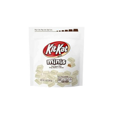 Z/ KIT KAT Minis White Chocolate Candy 8 oz. Bag, 3 Pack
