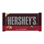 Hershey's Extra Large Special Dark Mildly Sweet Chocolate with Almonds Candy Bar, 4 Oz.