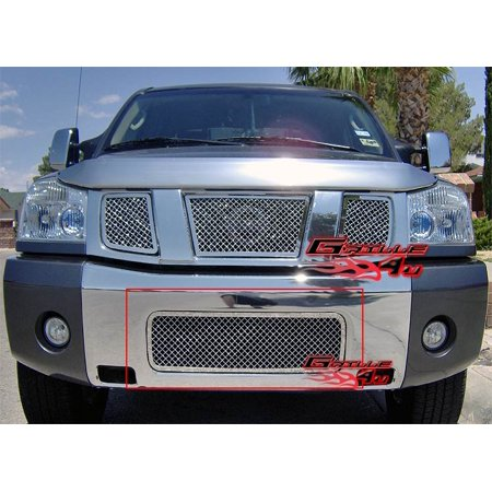 Fits 2004-2015 Nissan Titan/04-07 Armada Bumper Stainless Steel Mesh Grille  #N75413S