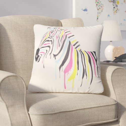 Zoomie Kids Halloran Zebra Throw Pillow