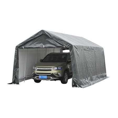 Enclosed Carport - 20' x 12' Heavy Duty Enclosed Vehicle Shelter Carport