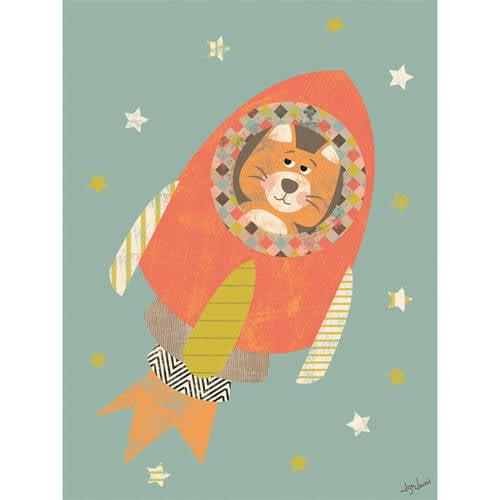 Oopsy Daisy - Oh My, Flying High Canvas Wall Art 18x24, Liza Lewis