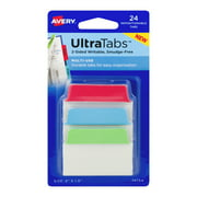 "Avery UltraTabs 2"" x 1.5"" Multi-Use Repositionable Tabs, 24 count"