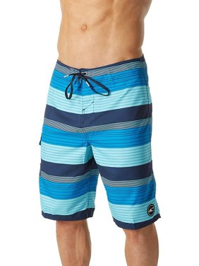 O'Neill Men's Santa Cruz Stripe Board Shorts (Black, 28)