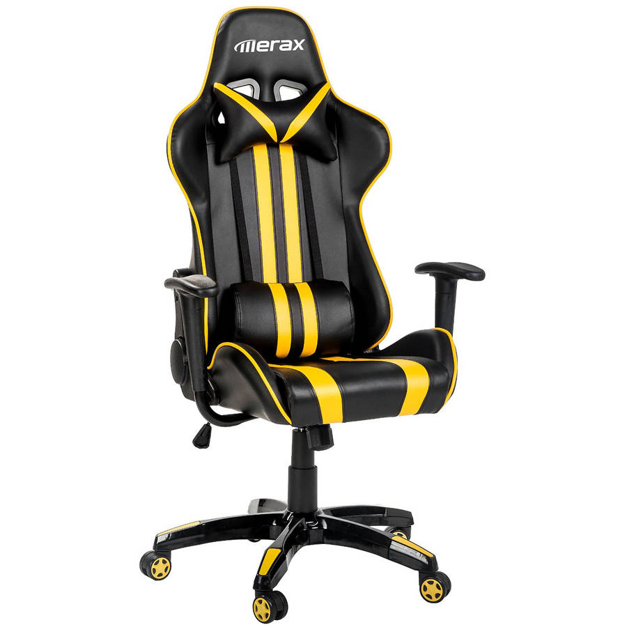 merax racing style gaming swivel leather office chair black and red