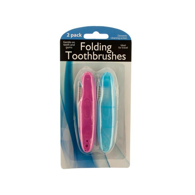 Bulk Buys BI800-48 Folding Travel Toothbrushes, 48 Piece