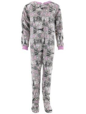 9ecaae8b7 Product Image Sweet N Sassy Girls Gray Paris Footed Pajamas