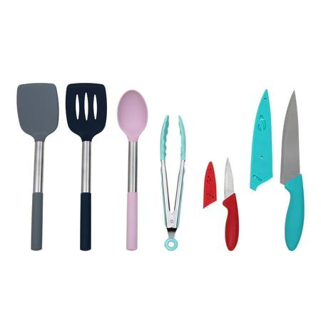 Mainstays 6 Piece Kitchen Utensils and Knives Starter