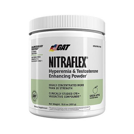 GAT hyperémie & testostérone Améliorer Pwd - Green Apple 30 Portions