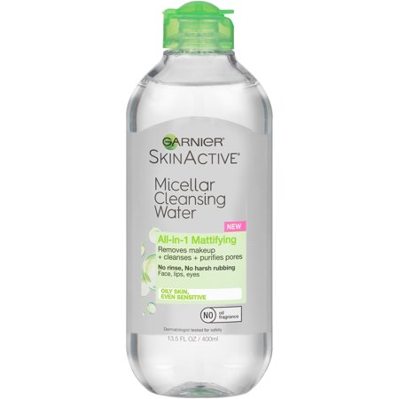 Garnier SkinActive All-in-1 Mattifying Micellar Cleansing Water 13.5 fl. oz. Squeeze Bottle ()