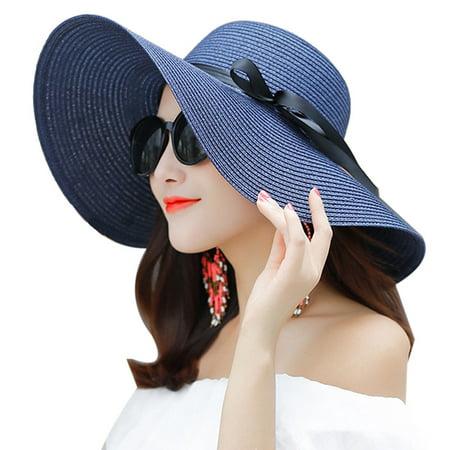 4dc0aa9c863ef4 Coxeer - Womens Floppy Hats Foldable UV Protection Beach Hat Summer Sun Hat  Caps for Ladies - Walmart.com
