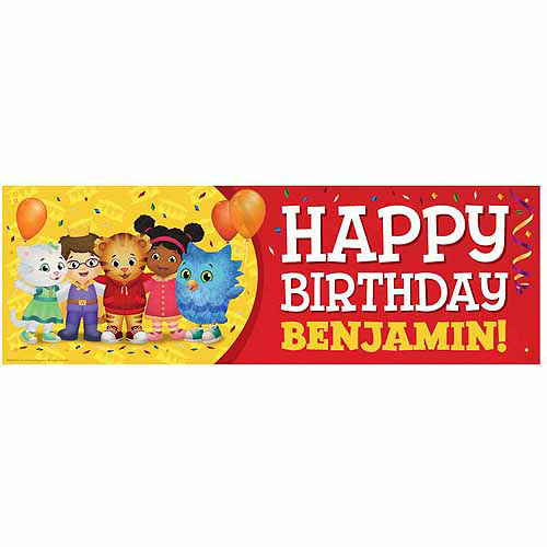 Personalized Daniel Tiger's Neighborhood Birthday Banner
