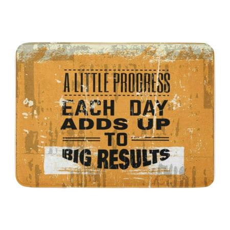 SIDONKU Saying Motivational Typographical About Progress Vintage Motivation Doormat Floor Rug Bath Mat 23.6x15.7 inch](Vintage Halloween Sayings)