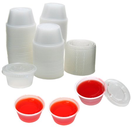 Creative Halloween Jello Shots (2 oz Plastic Jello Shot Cups with Lids -)
