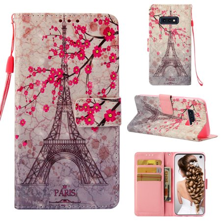 Galaxy S10 Lite Case, S10 Lite Case, Allytech 3D PU Leather Protective Cover & Pocket Lanyard Wallet with Cards Holder, Support Kickstand Slim Case for Samsung Galaxy S10 Lite, Eiffel