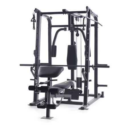 Weider Pro 8500 Smith Cage Strength Trainer with Plate (Weider 7 In 1 Body Building System)