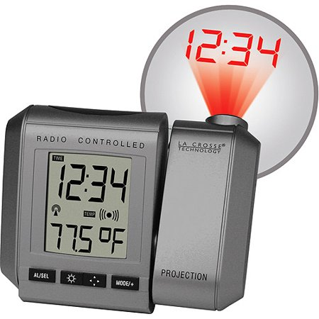 La Crosse Technology Atomic Projection Alarm Clock With
